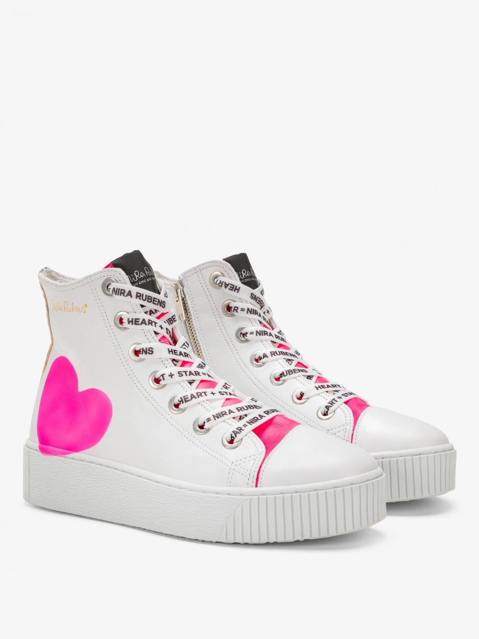 Long Island Sneakers - Neon Python Heart
