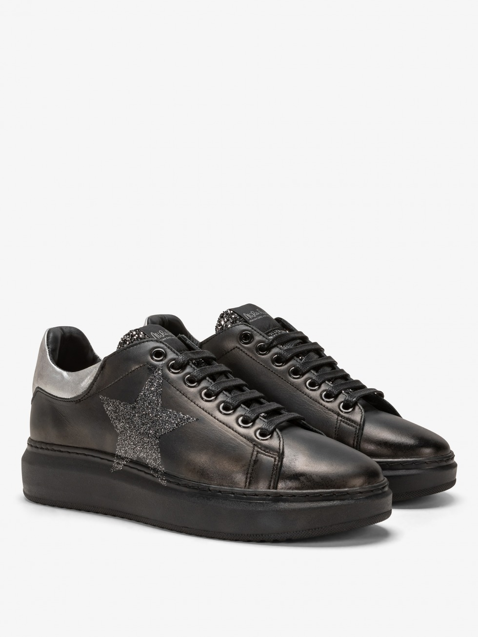 Angel Sneakers All Black - Silver Star