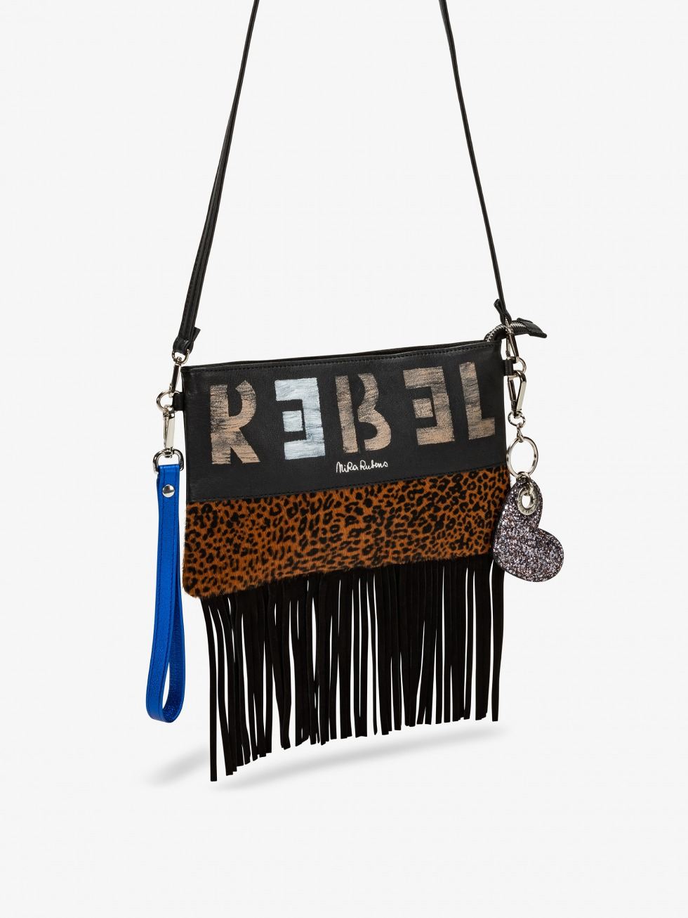 Fringed Minibag - Giaguarino Electric Blue