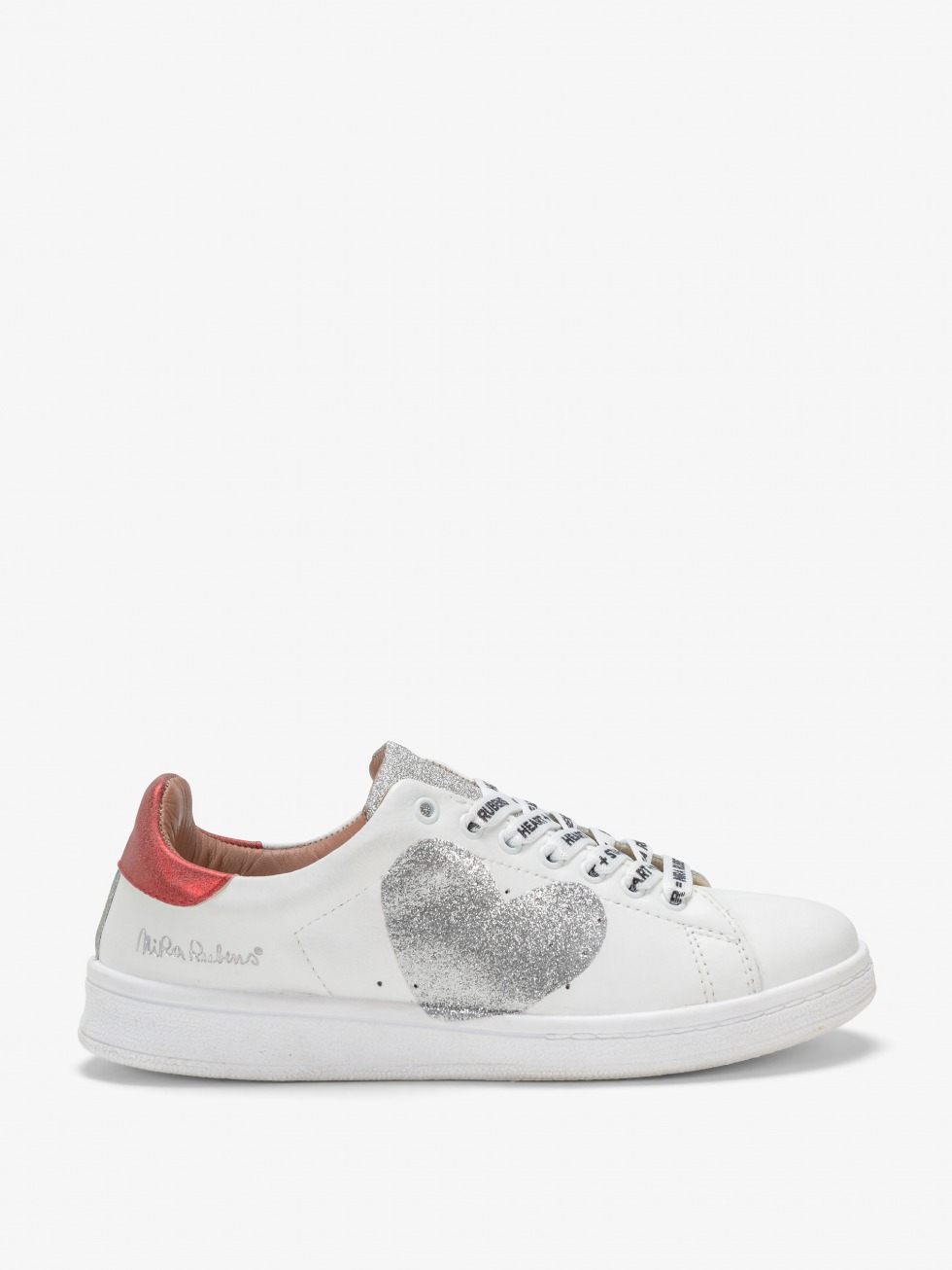 Daiquiri Shine Red Sneakers - Silver Heart