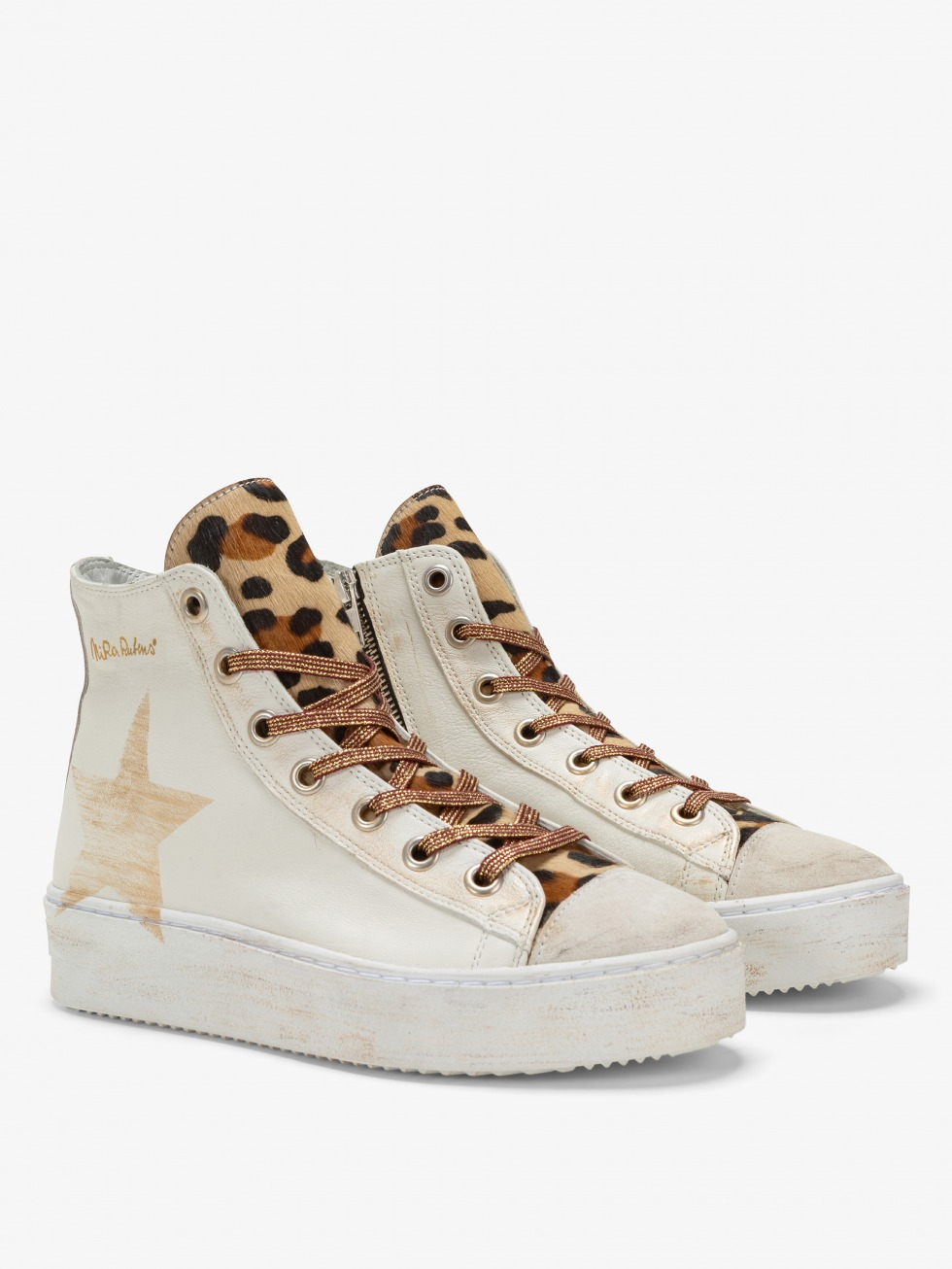Long Island Sneakers - White Leo Star