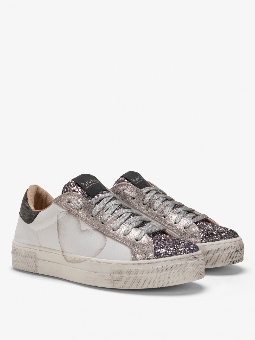 Martini Dazzling Silver Sneakers - Grey Heart