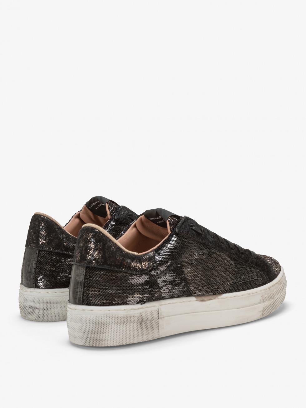 Martini Dazzling Black Sneakers - Bronze Heart