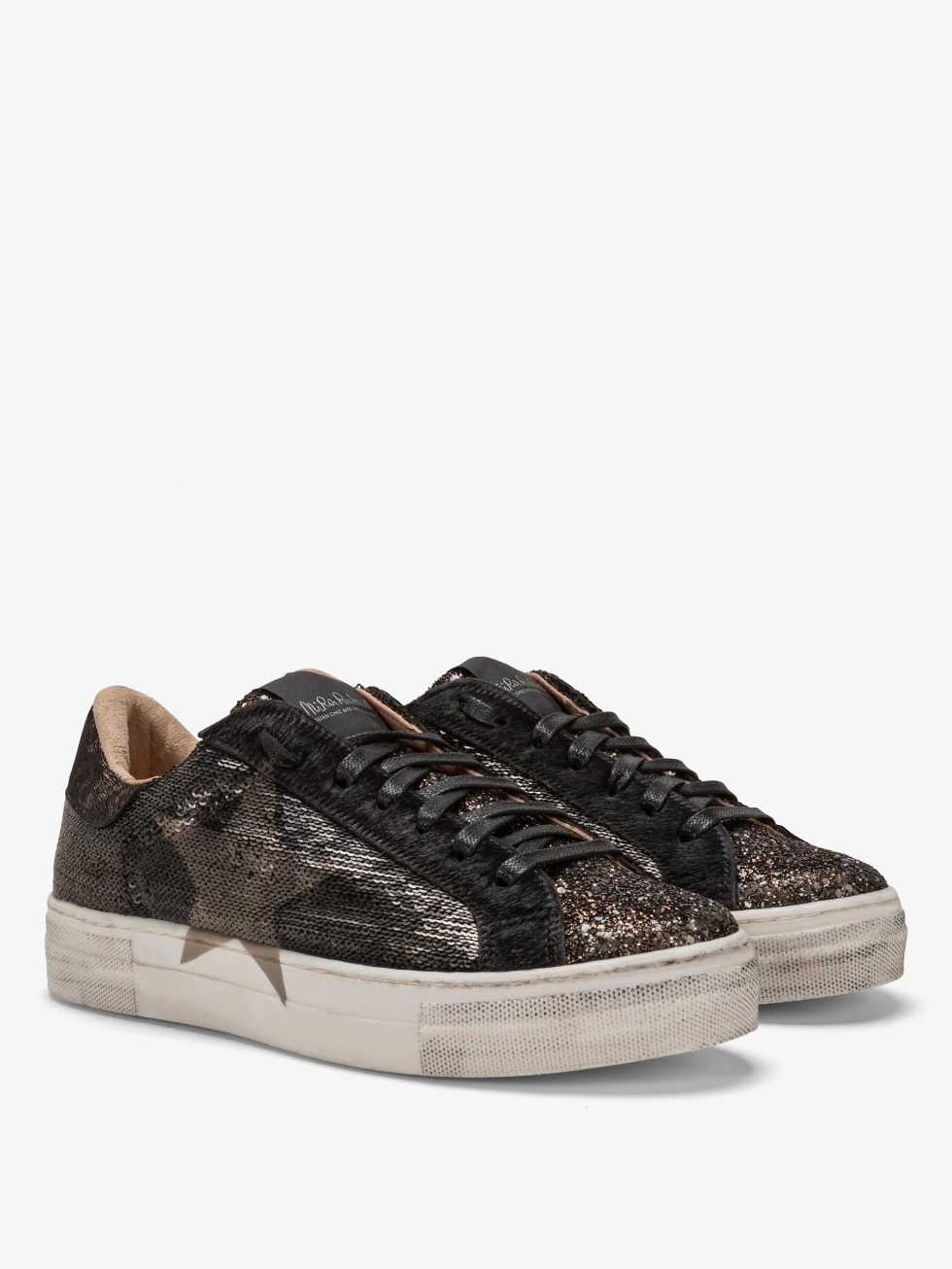 Martini Dazzling Black Sneakers - Bronze Star