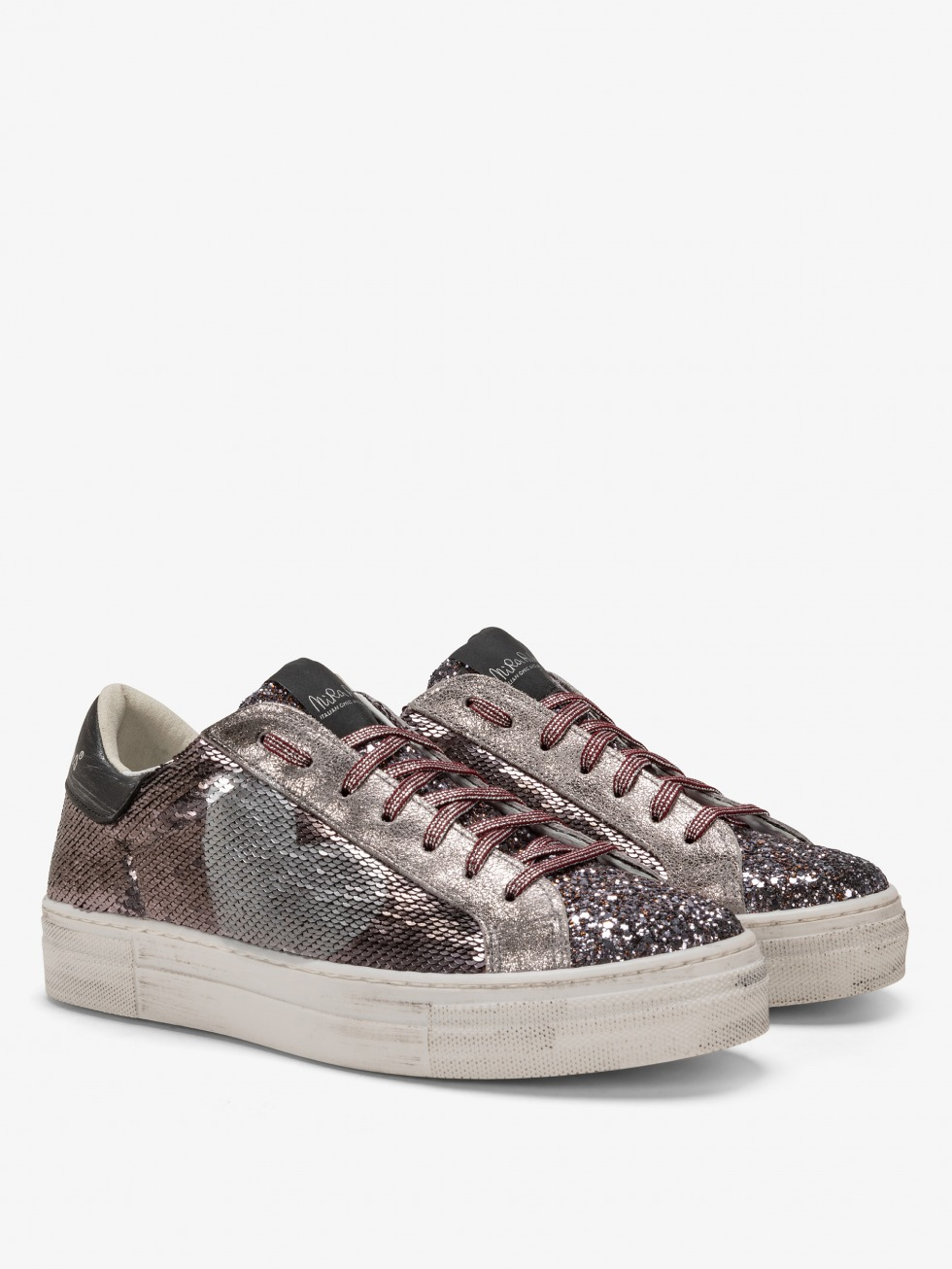 Martini Sparkle Sneakers - Grey Heart