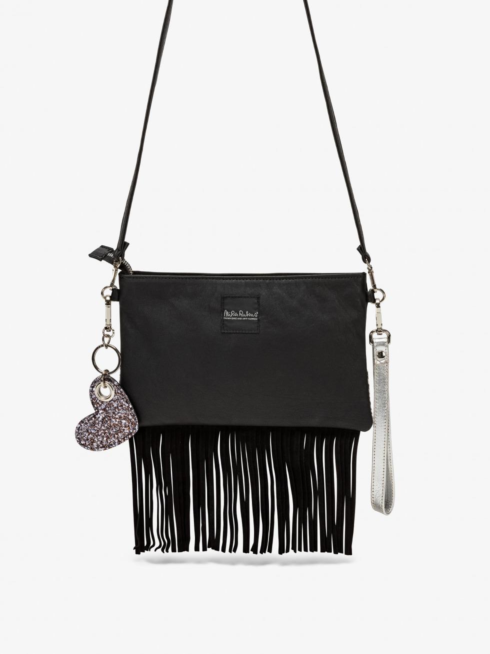 Fringed Minibag - Zebrina Silver