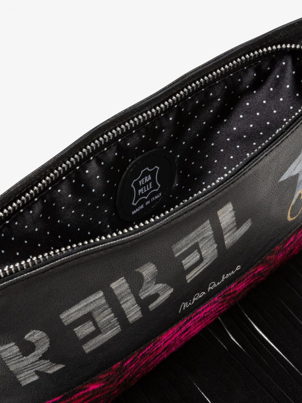 Fringed Minibag - Pink Tigretta