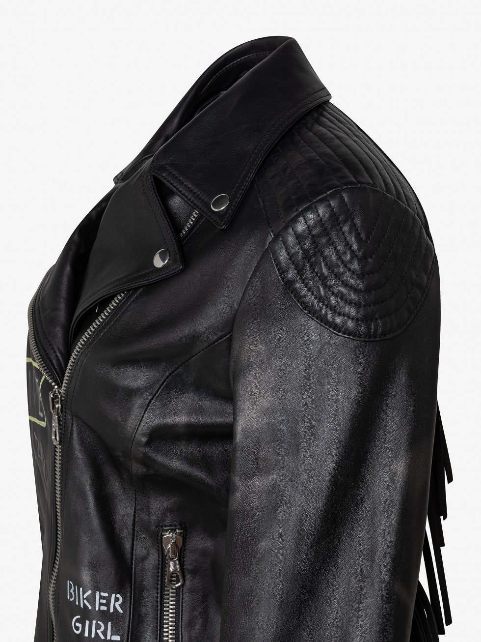 Biker Fringed Jacket - Live Hard