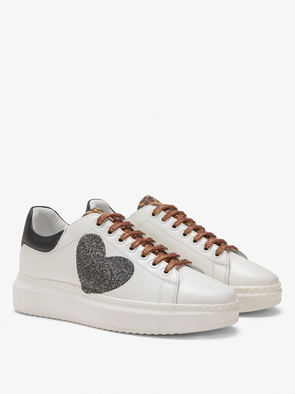 Angel Sneakers Leo Black - Glitter Heart