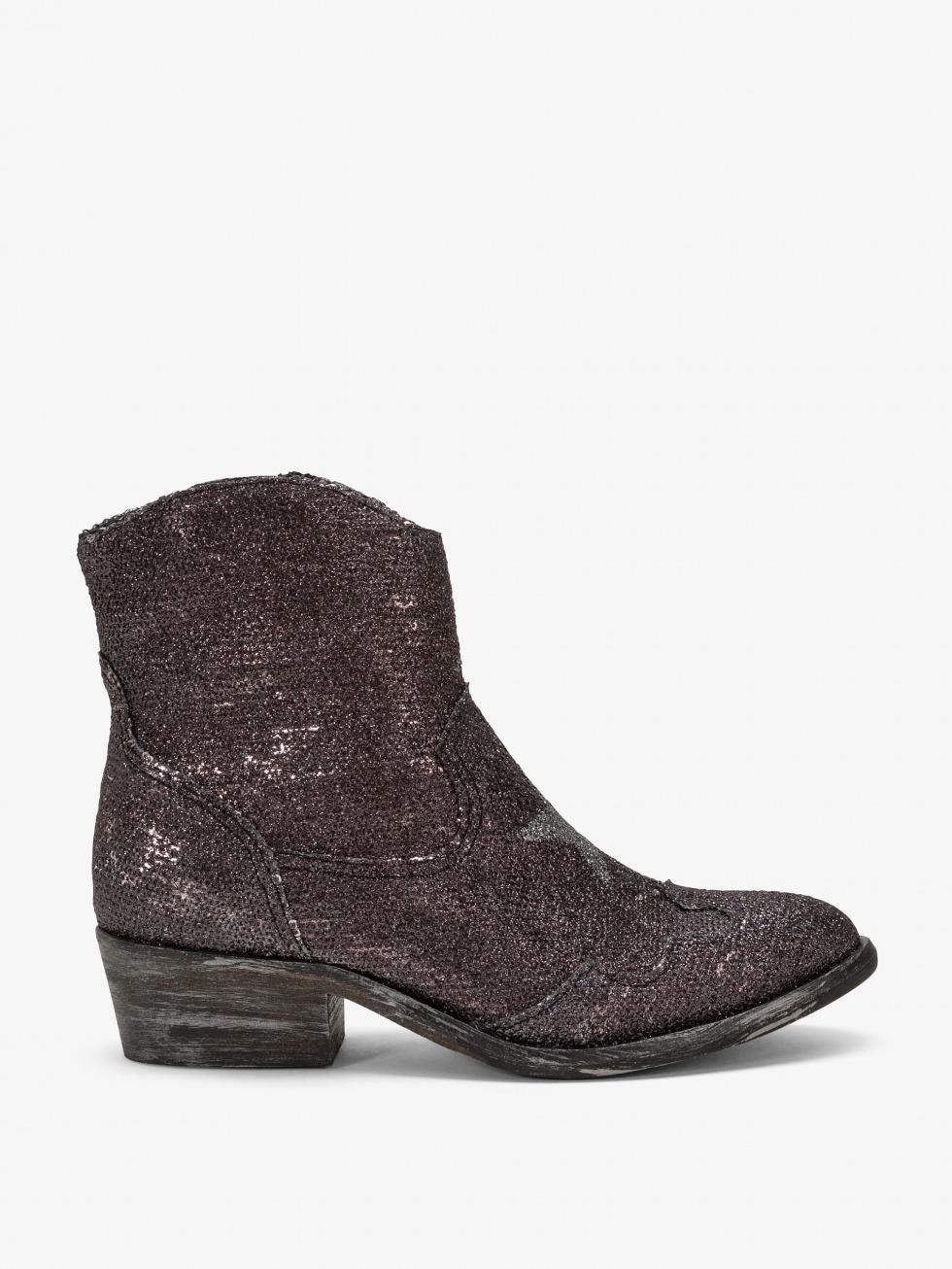 Ankle boot Alabama- Trocadero Black Star