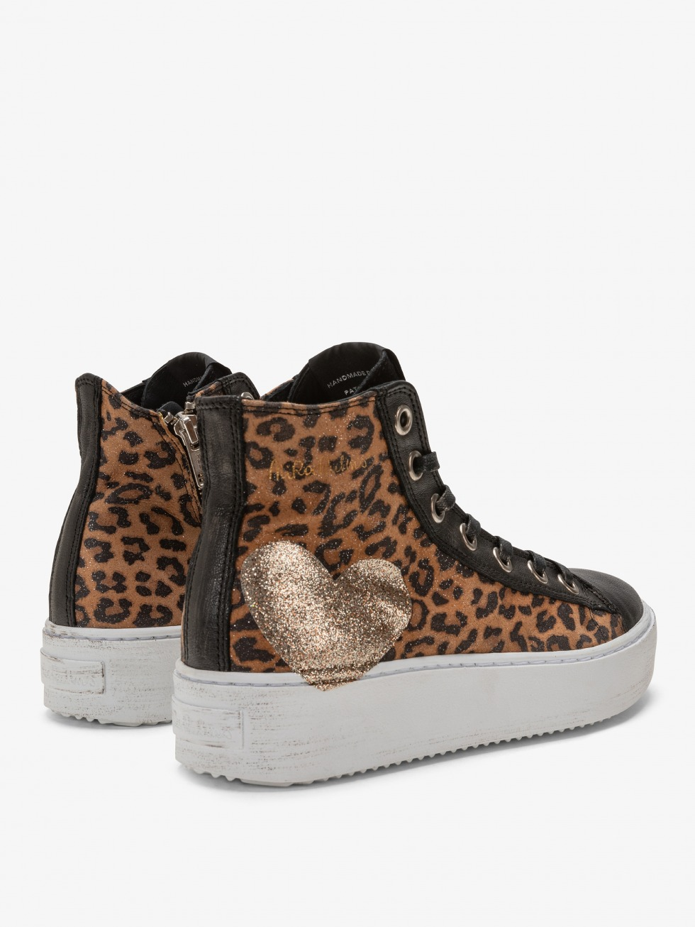 Long Island Sneakers - Glitter Leo Heart