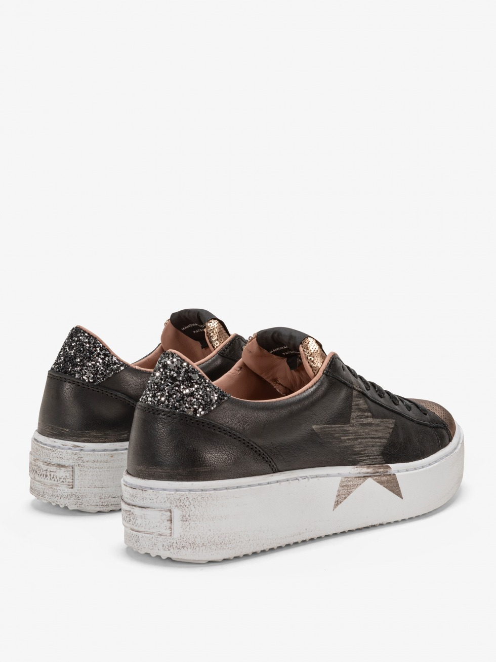 Cosmopolitan Black Sneakers - Gold Star