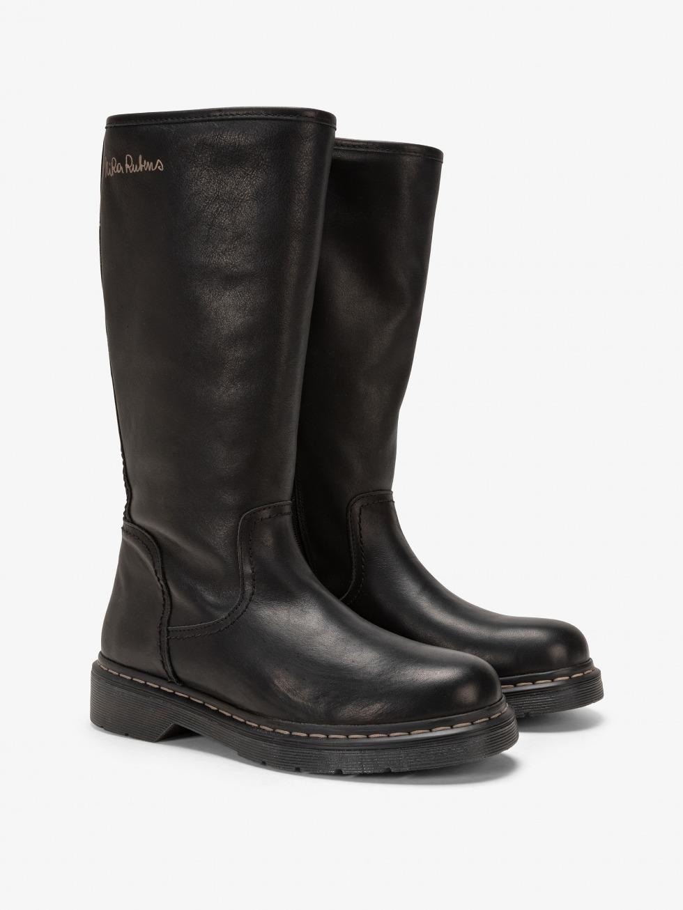 Frozen Boot - Rebel Black Fur
