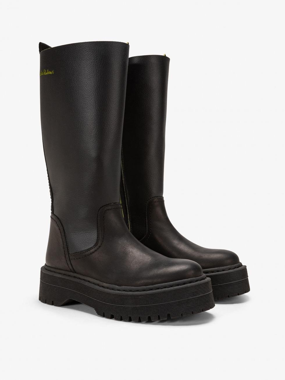 Frozen Top Boot - Rebel Black Lime