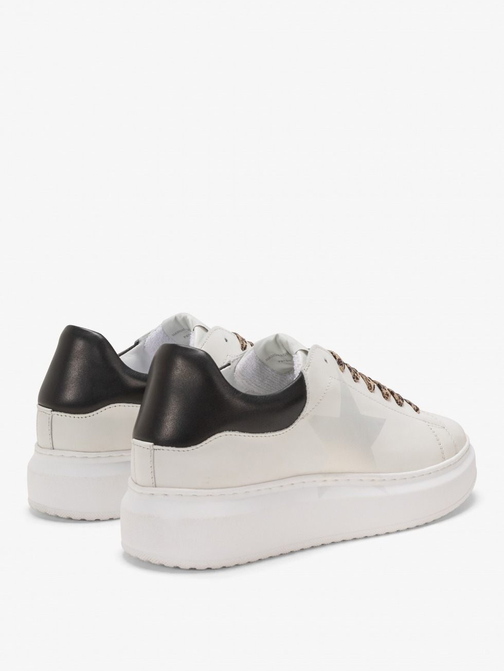 Sneakers Angel Black Leopard - Stella