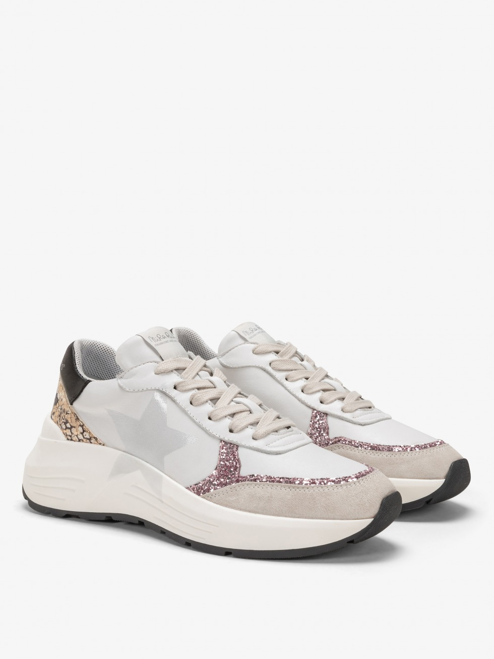 Stinger Chunky Sneakers Python Rose - Star
