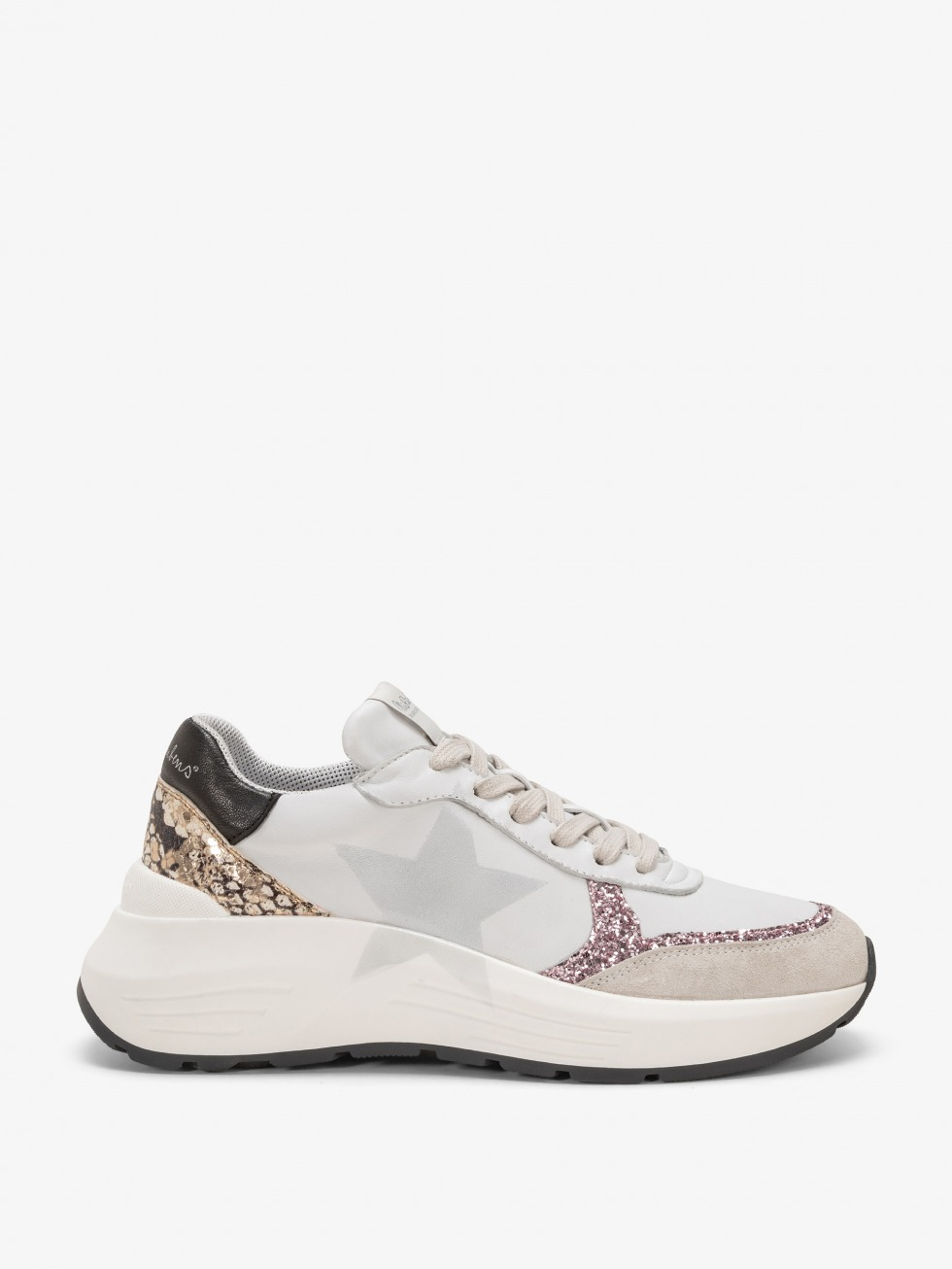 Chunky Sneakers Stinger Python Rose - Stella