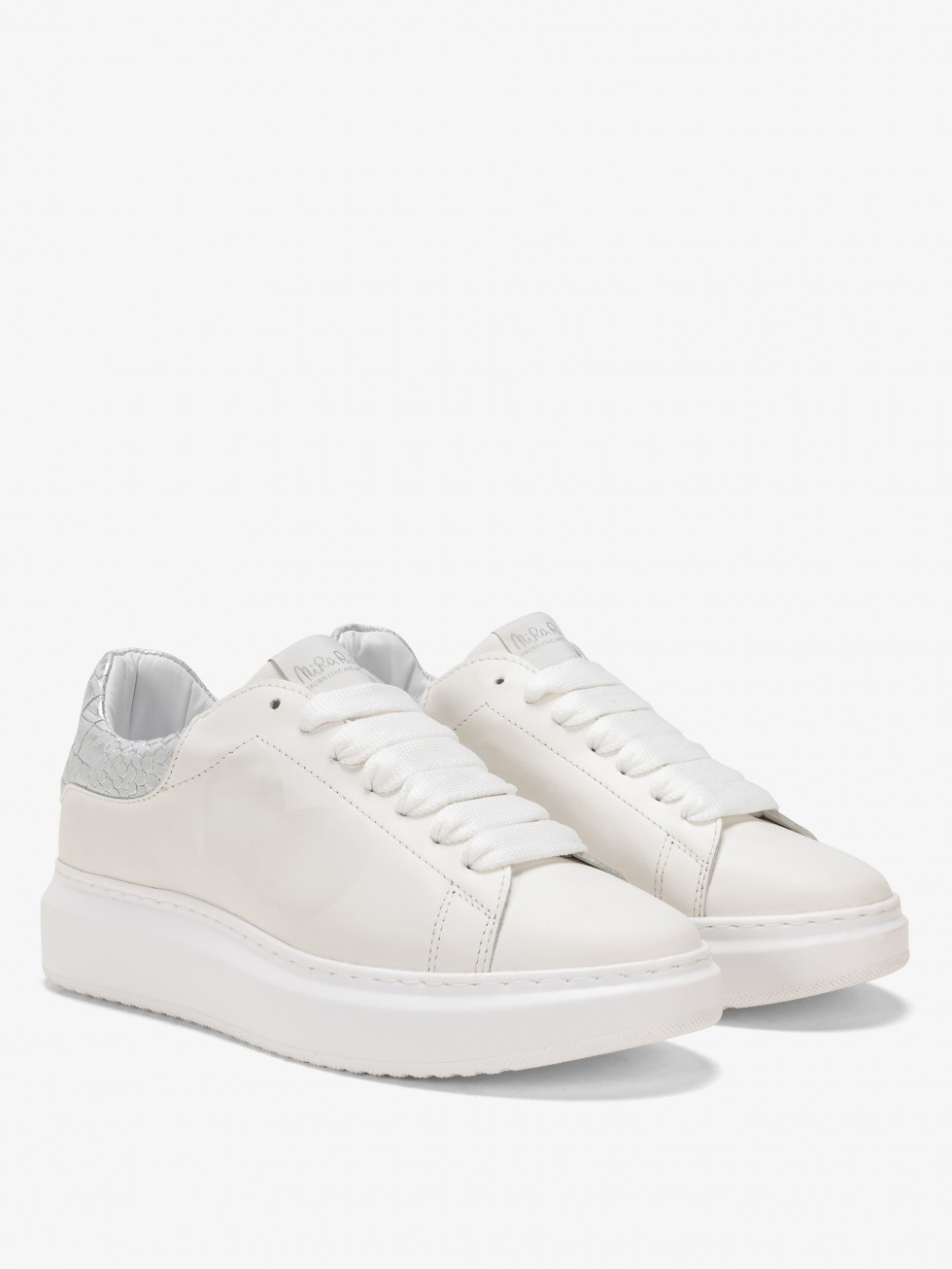 Angel Sneakers Cocco Silver - Heart