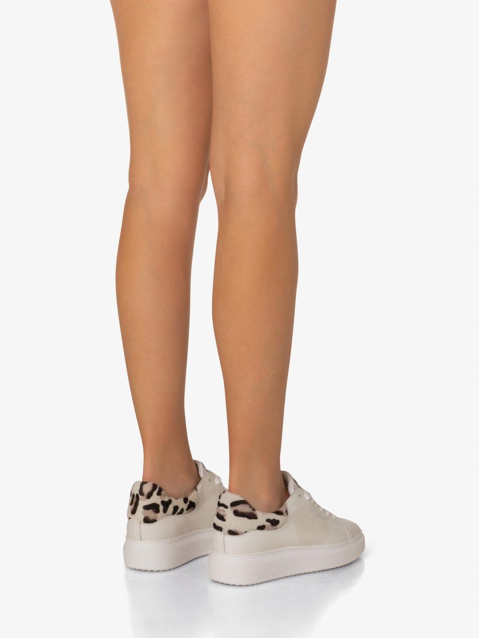 Angel Sneakers White Leopard - Heart