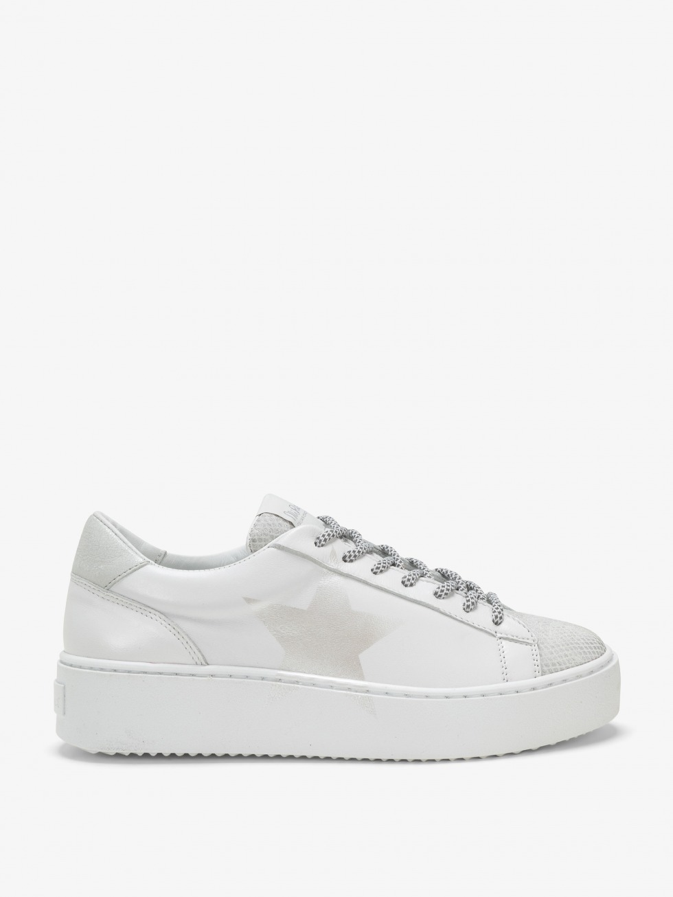 Cosmopolitan Sneakers Silver Blanched - Star