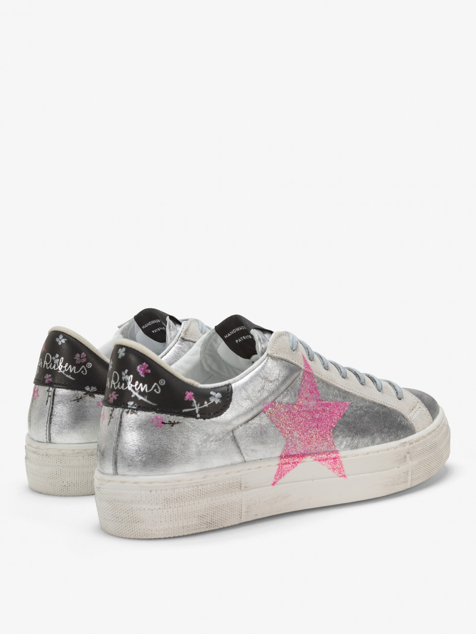 Martini Sneakers Silver Flowers - Star