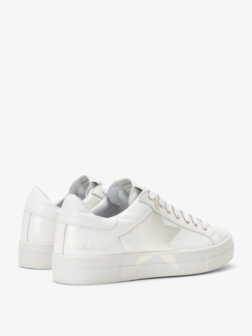 Martini White Sneakers - Mother of Pearl Star