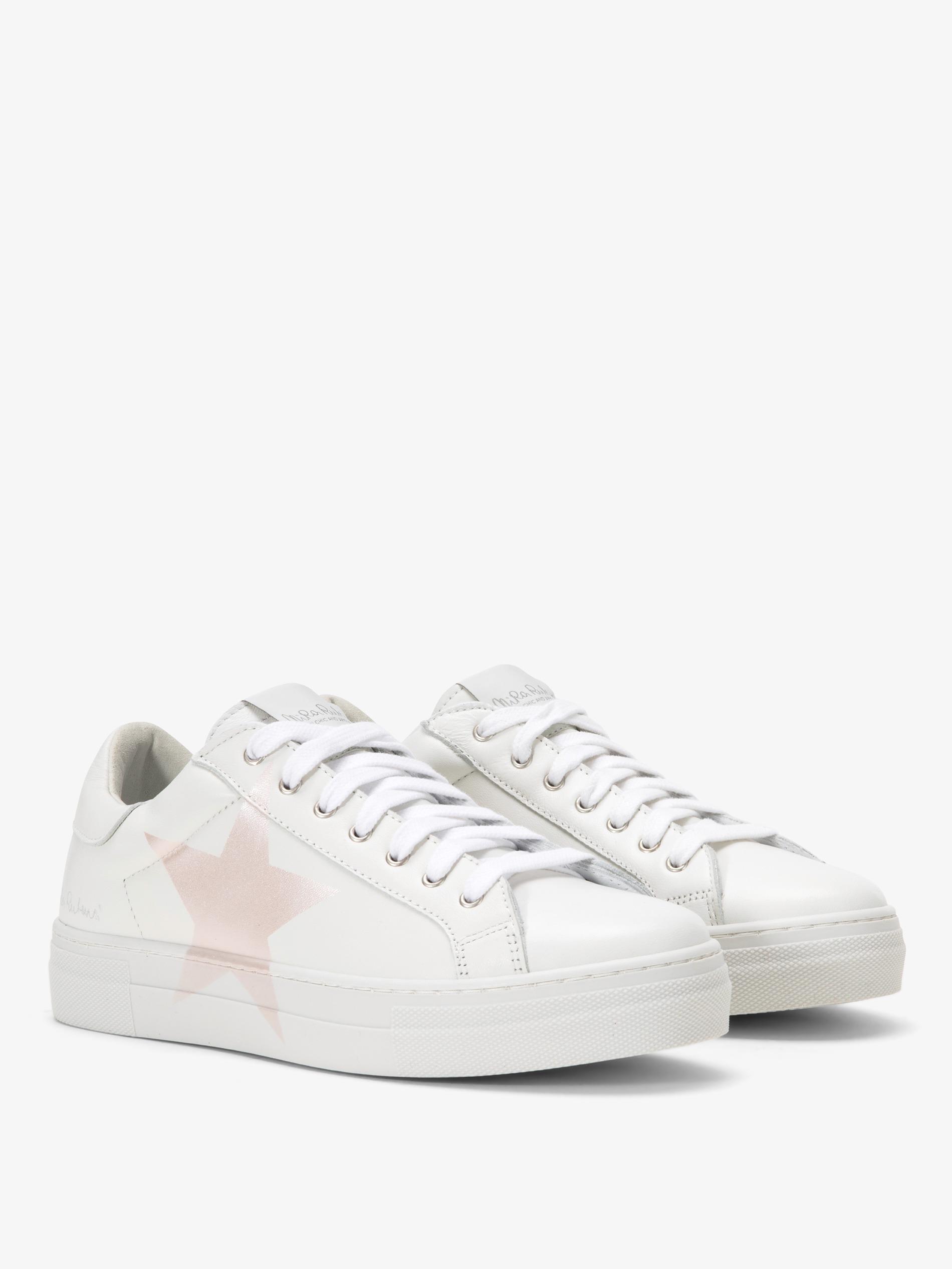 71fc9202db Sneakers bianche con suola alta bianche con stella rose madreperla